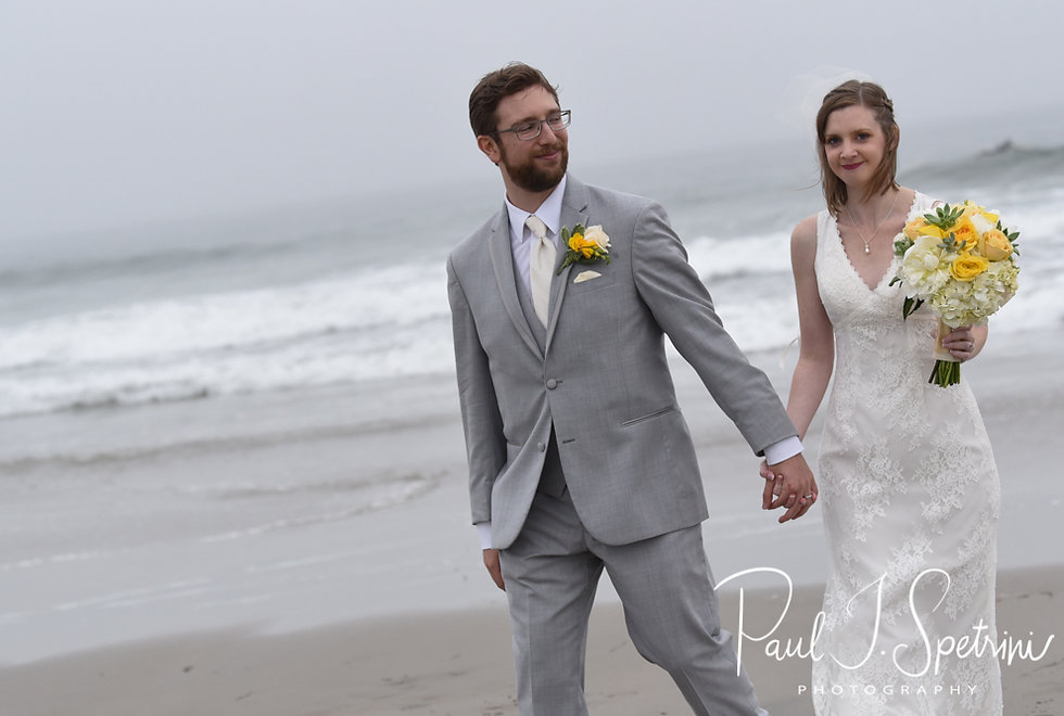 Amber & Justin pose for a formal photo following their June 2018 wedding ceremony at North Beach Clubhouse in Narragansett, Rhode Island.