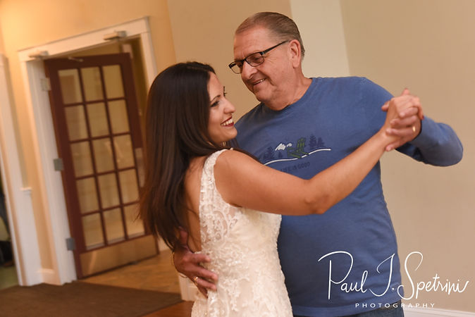 Amanda and her stepfather dance during her October 2018 wedding reception at Loon Pond Lodge in Lakeville, Massachusetts.