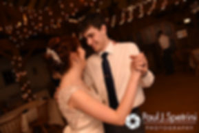 Ellen and Jeremy dance during their May 2016 wedding reception at Bittersweet Farm in Westport, Massachusetts.