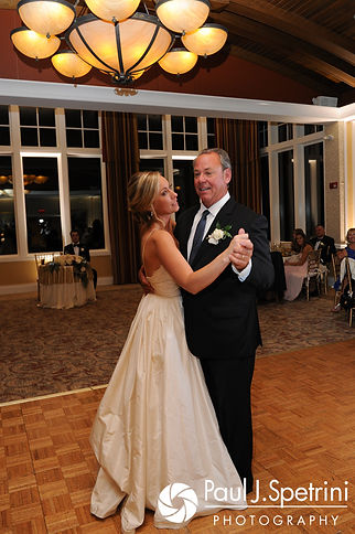 Laura and her father dance during her September 2017 wedding reception at Lake of Isles Golf Club in North Stonington, Connecticut.