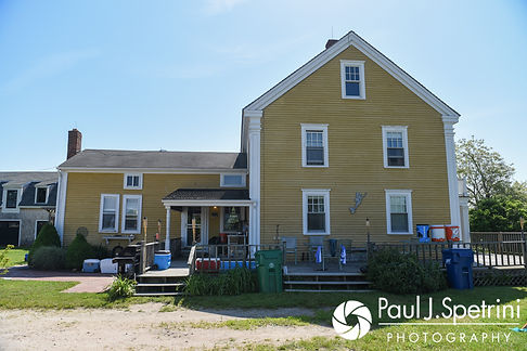 A look at Farmhouse-By-The-Sea prior to Molly and Tim's June 2017 wedding ceremony at Saint Romuald Chapel in Matunuck, Rhode Island.