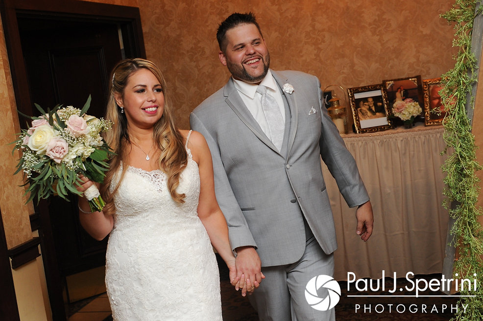 Nathan and Amy are introduced during their November 2017 wedding reception at Quidnessett Country Club in North Kingstown, Rhode Island.