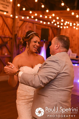 Jennifer dances with her father during her September 2017 wedding reception at Allen Hill Farm in Brooklyn, Connecticut.