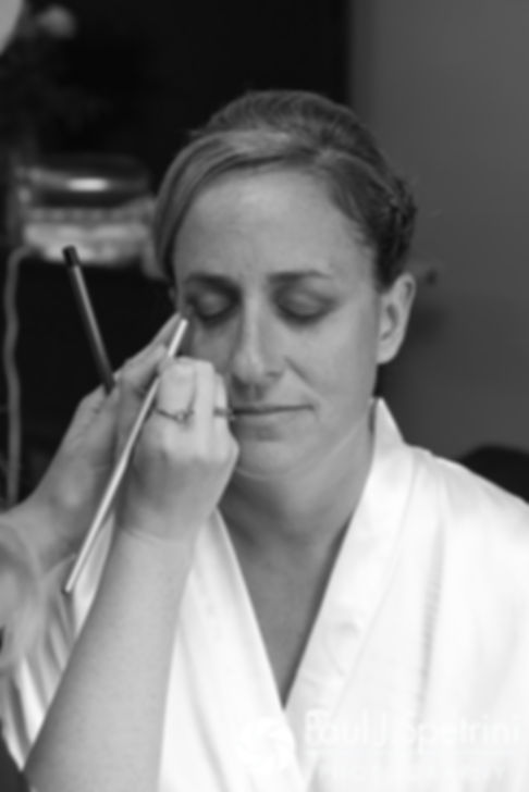 Rebecca has her makeup applied prior to her August 2017 wedding ceremony in Warwick, Rhode Island.