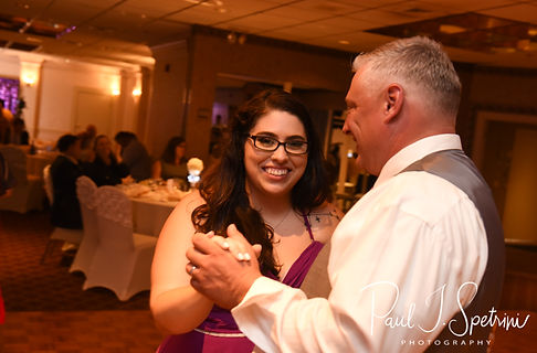 Rick and his step-daughter dance during his August 2018 wedding reception at Twelve Acres in Smithfield, Rhode Island.