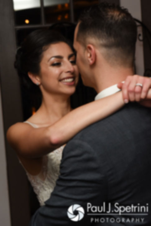 Gina and David dance during their December 2016 wedding reception at the Waterman Grille in Providence, Rhode Island.