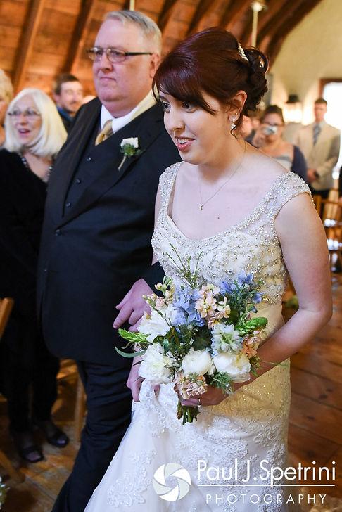 Ellen walks down the aisle during her May 2016 wedding at Bittersweet Farm in Westport, Massachusetts.