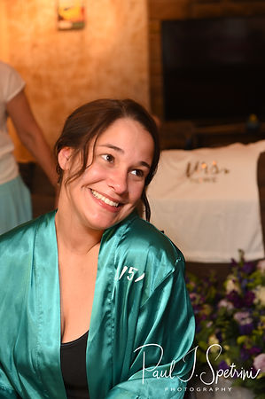 Danielle smiles prior to her August 2018 wedding ceremony at the Roger Williams Park Casino in Providence, Rhode Island.