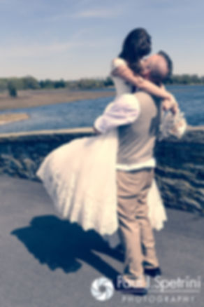 Krystal and Ian pose for formal photos following their May 2016 wedding at Colt State Park in Bristol, Rhode Island.