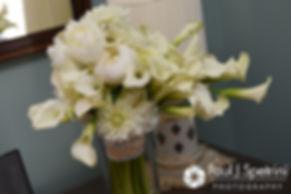 Debbie's flowers rest in water prior to her June 2016 wedding in Barrington, Rhode Island.