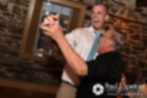 Ian dances with a guest at his May 2016 wedding reception at DeWolf Tavern in Bristol, Rhode Island.