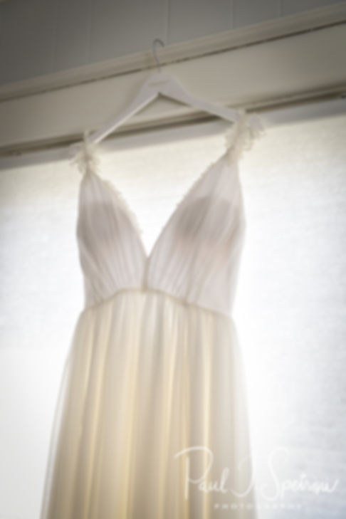 A look at Ali's dress prior to her May 2018 wedding ceremony at the Roger Williams Park Botanical Center in Providence, Rhode Island.