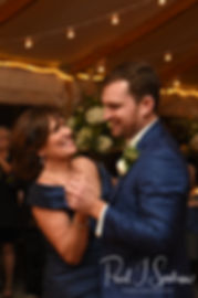 David dances with his mom during his October 2018 wedding ceremony at Castle Hill Inn in Newport, Rhode Island.