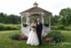Zach & Kelly pose for a formal photo following their June 2018 wedding ceremony at Blissful Meadows Golf Club in Uxbridge, Massachusetts.