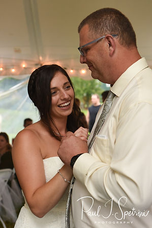 Karolyn and her father dance during her August 2018 wedding reception at a private residence in Sterling, Connecticut.