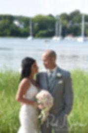 Goddard Park bride and groom wedding for