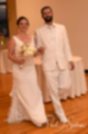 Mike and Selah are introduced during their August 2018 wedding reception at The Rotunda Ballroom at Easton's Beach in Newport, Rhode Island.