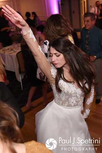 Jessica dances during her October 2017 wedding reception at Crystal Lake Golf Club in Mapleville, Rhode Island.