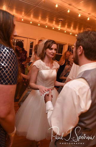 Amber dances during her June 2018 wedding reception at North Beach Clubhouse in Narragansett, Rhode Island.