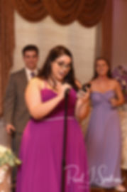 Robin's daughter gives a speech during her mom's August 2018 wedding reception at Twelve Acres in Smithfield, Rhode Island.