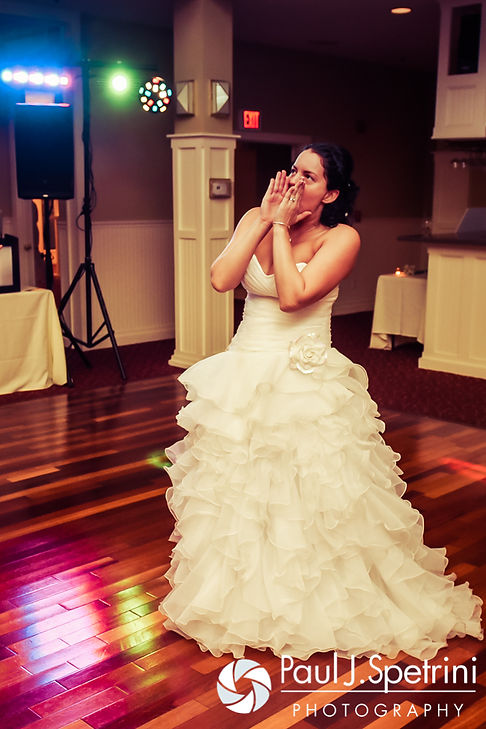 Kelly dances during her November 2016 wedding reception at the Bay Pointe Club in Buzzards Bay, Massachusetts.