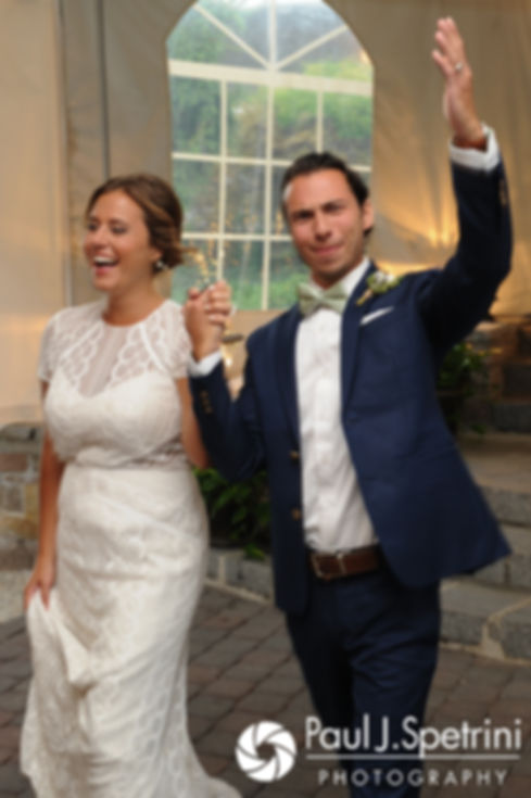 Jennifer and Bruce are introduced during their August 2017 wedding reception at The Inn at Mystic in Mystic, Connecticut.
