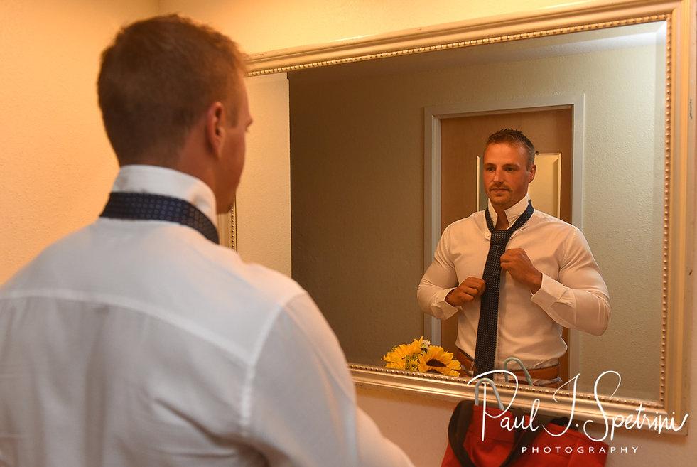 Newport Rhode Island Wedding Photography, Groom Prep Photos