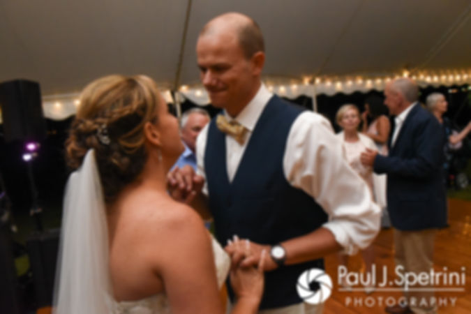 Rebecca and Kelly dance during their August 2017 wedding reception in Warwick, Rhode Island.