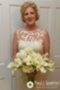Debbie smiles for a photo prior to her June 2016 wedding in Barrington, Rhode Island.