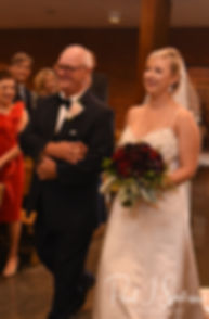 Meghan walks down the aisle during her September 2018 wedding ceremony at Immaculate Conception Church in Cranston, Rhode Island.