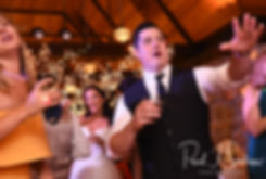 Dan and guests dance during his September 2018 wedding reception at The Towers in Narragansett, Rhode Island.