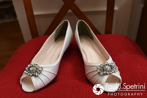 A look at Rebecca's shoes prior to her August 2017 wedding ceremony in Warwick, Rhode Island.