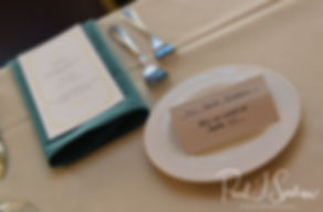 A look at Brian and Sarah's placecards, as seen during their June 2018 wedding reception at Pleasant Valley Country Club in Sutton, Massachusetts.