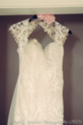 A look at Emma's wedding dress prior to her November 2015 wedding at the Publick House in Sturbridge, Massachusetts.