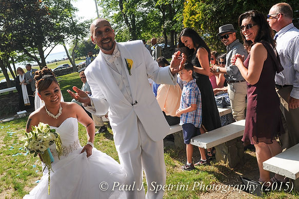 Joe and Jean Andrade get married at Colt State Park.