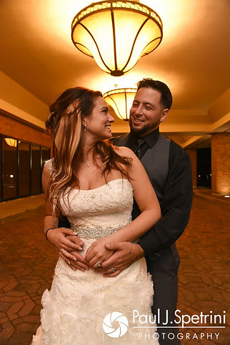 Dallas and Nicky pose for a formal photo following their September 2017 wedding ceremony at the Crowne Plaza Hotel in Warwick, Rhode Island.