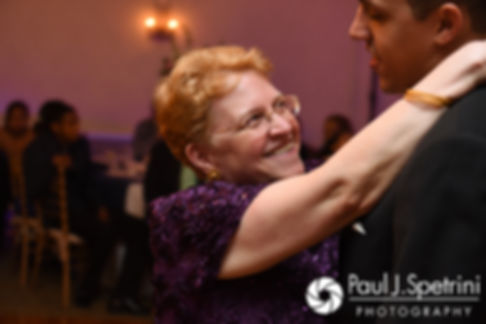 Arten and his mother dance during his September 2017 wedding reception at Wannamoisett Country Club in Rumford, Rhode Island.