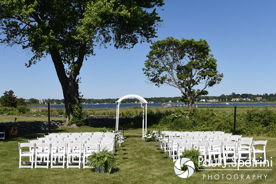 A look at the ceremony site prior to Bob and Debbie's June 2016 wedding in Barrington, Rhode Island.