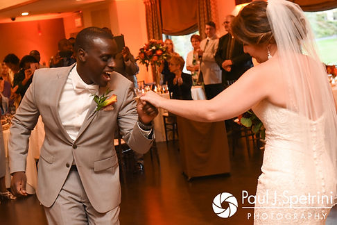 Kevin and Kristina dance during their October 2017 wedding reception at the Villa Ridder Country Club in East Bridgewater, Massachusetts.