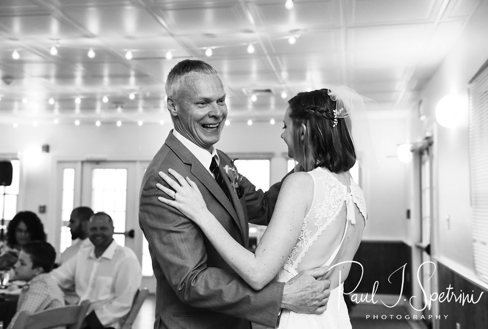 Amber and her father dance during her June 2018 wedding reception at North Beach Clubhouse in Narragansett, Rhode Island.
