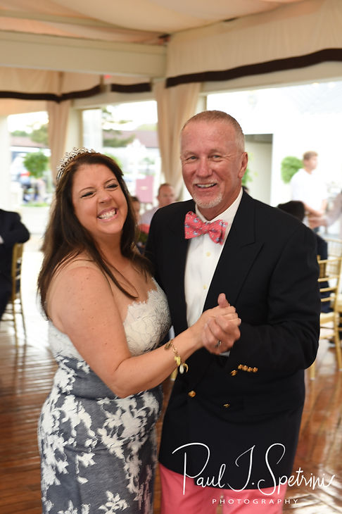 Mike & Kate dance during their May 2018 wedding reception at Regatta Place in Newport, Rhode Island.