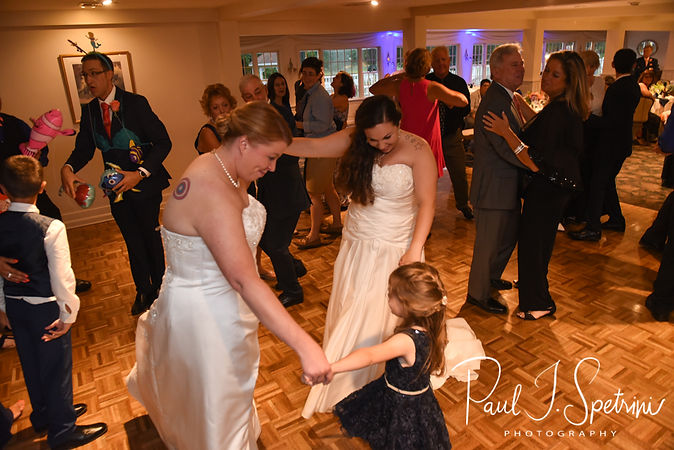 Laura & Marijke dance together during their June 2018 wedding reception at Independence Harbor in Assonet, Massachusetts.