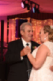 Courtney and her father dance during her September 2018 wedding reception at Valley Country Club in Warwick, Rhode Island.