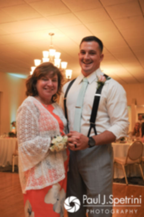 Sean and his mother dance during his July 2017 wedding reception at Rachel's Lakeside in Dartmouth, Massachusetts.