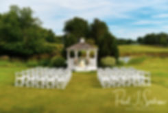 A look at the ceremony site prior to Jacob & Stephanie's June 2018 wedding ceremony at Foster Country Club in Foster, Rhode Island.