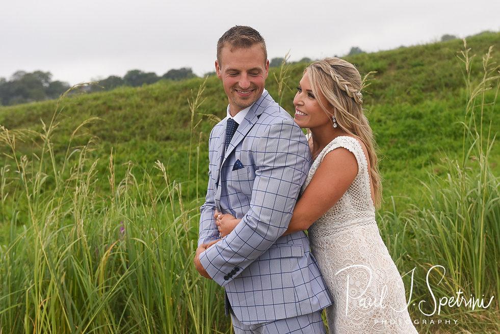 The Rotunda at Easton's Beach Newport Wedding Photography, Bride and Groom Formal Photos