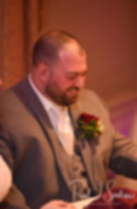 Jon listens to a speech during his October 2018 wedding reception at Twelve Acres in Smithfield, Rhode Island.
