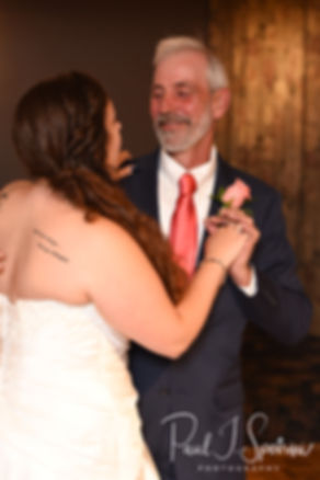 Laura and her father dance during her June 2018 wedding reception at Independence Harbor in Assonet, Massachusetts.