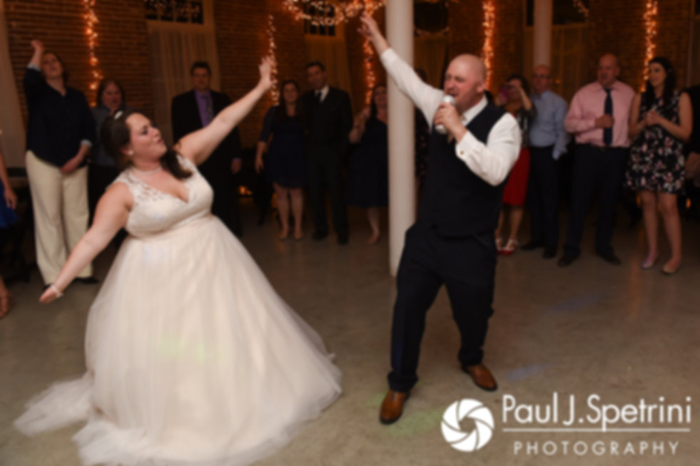 Meridith and Matthew dance during their May 2017 wedding reception at the Hope Artiste Village in Pawtucket, Rhode Island.