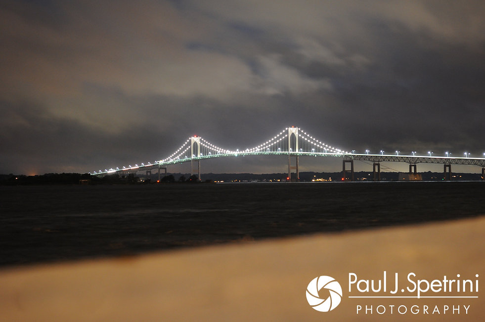 A look at the Newport Clay Pell Bridge, seen during Nashua and Nader's July 2017 wedding reception at Belle Mer in Newport, Rhode Island.